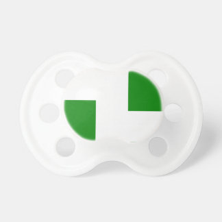 Green and White Offset Pacifier