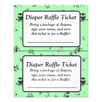 Green and White Owl Themed baby shower games Flyer