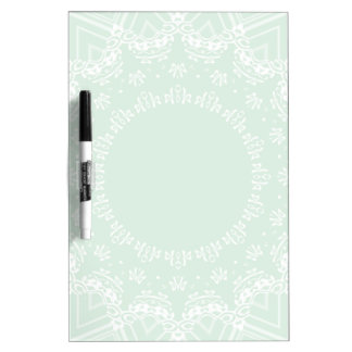 Green and white pattern Dry-Erase whiteboard