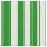 [ Thumbnail: Green and White Pattern of Stripes Fabric ]