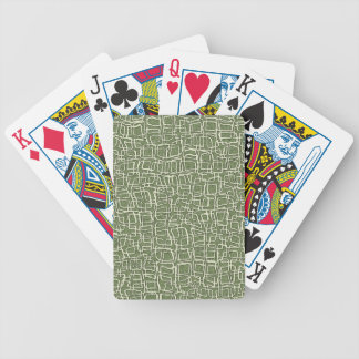 GREEN AND WHITE PATTERN BICYCLE POKER CARDS