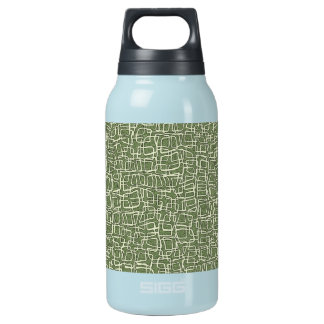 GREEN AND WHITE PATTERN 10 OZ INSULATED SIGG THERMOS WATER BOTTLE