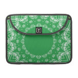 Green and white pattern sleeves for MacBook pro