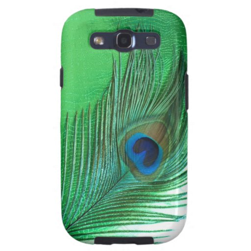 Green and White Peacock Feather Still Life Galaxy S3 Case