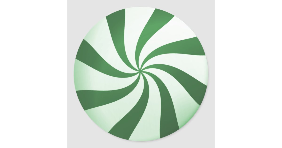 Green And White Peppermint Candy Stickers Zazzle Com