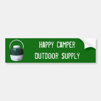 Green and White Picnic Jug Bumper Sticker