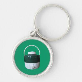 Green and White Picnic Jug Keychain