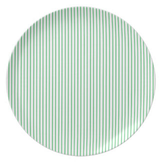 Green and White Pinstripe Plate