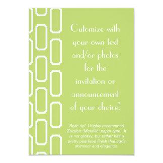 Green and White Plaque Design Invitation