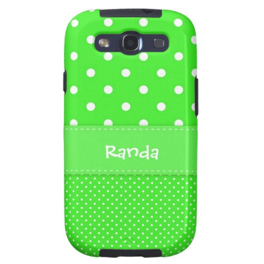 Green and White Polka Dot Galaxy S3 Case