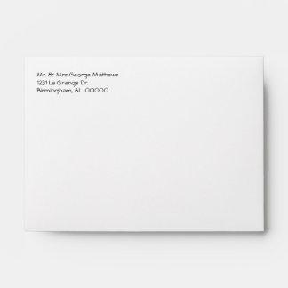 Green and White Polka Dot Invitation Envelope
