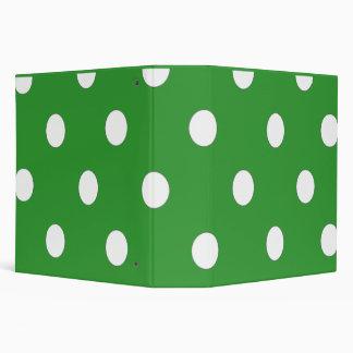 Green And White Polka Dot Keepsake Binder