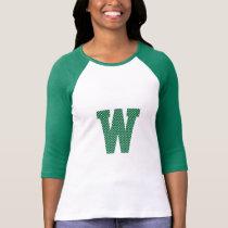 Green and White Polka Dot Monogram T-Shirt