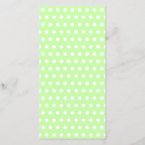 Green and White Polka Dot Pattern. Spotty.