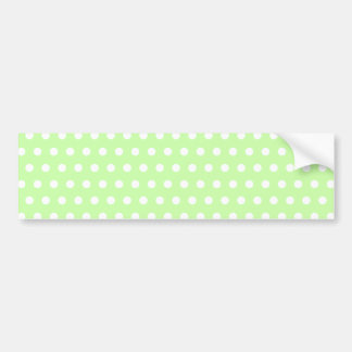 Green and White Polka Dot Pattern. Spotty. Bumper Sticker
