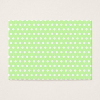 Green and White Polka Dot Pattern. Spotty. Business Card