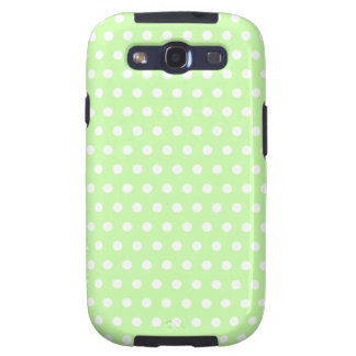 Green and White Polka Dot Pattern Spotty Galaxy S3 Cases