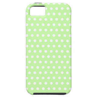 Green and White Polka Dot Pattern. Spotty. iPhone SE/5/5s Case