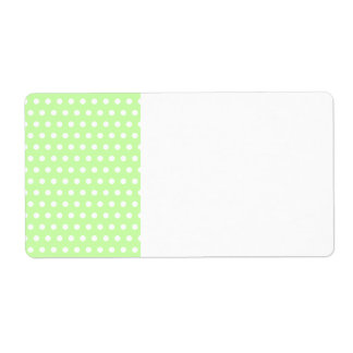 Green and White Polka Dot Pattern. Spotty. Personalized Shipping Label