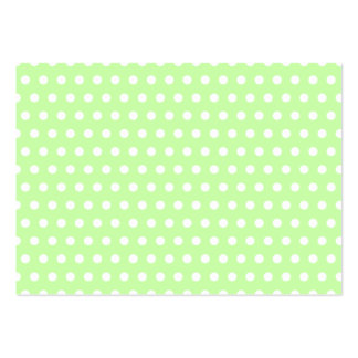 Green and White Polka Dot Pattern. Spotty. Large Business Card