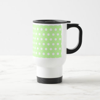 Green and White Polka Dot Pattern. Spotty. Mug