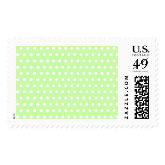 Green and White Polka Dot Pattern. Spotty. Stamps