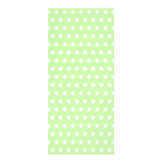 Green and White Polka Dot Pattern. Spotty. Rack Card