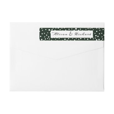 Wedding Themed Green and white polka dot pattern wedding wrap around label