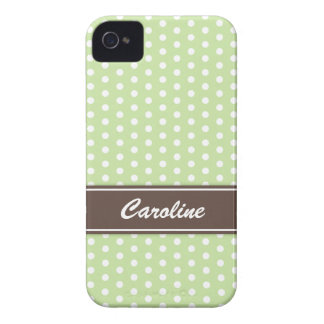 Green and white polka dots BlackBerry Bold case