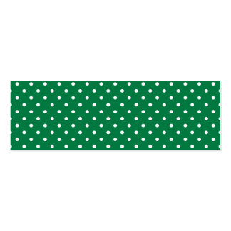 Green and White Polka Dots Double-Sided Mini Business Cards (Pack Of 20)