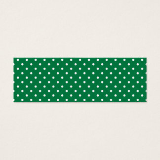 Green and White Polka Dots Mini Business Card