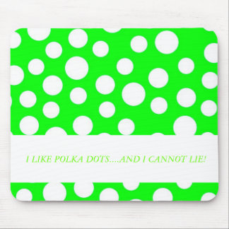 Green and White Polka Dots Mouse pad