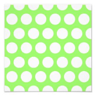 Green and White Polka Dots Photo Print