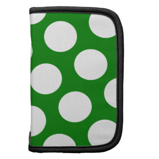 Green and White Polka Dots Planners