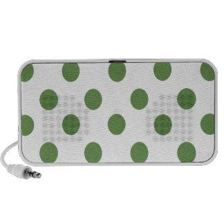 Green and White Polkadots Mini Speaker