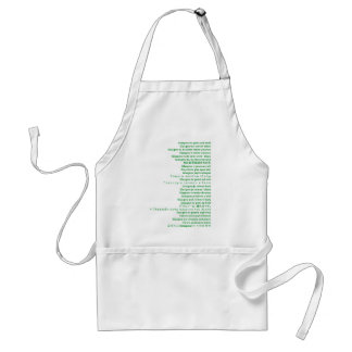 Green and White Polyglot Adult Apron
