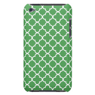 Green and White Quatrefoil Patterns iPod Touch Cover
