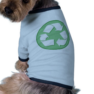 Green and White Recycle Sign Pet Clothes