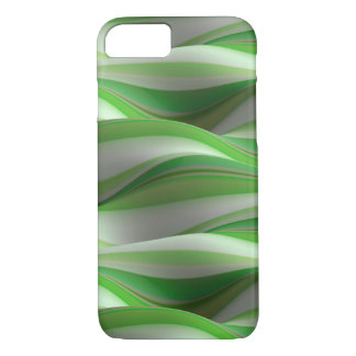 green and white shadowed wave pattern iPhone 8/7 case