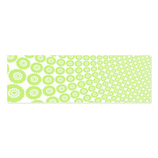 Green and White Shapes Against a Black Background Business Card Template