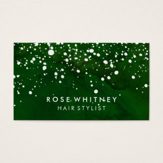 Green and White Snow Creative Business Card