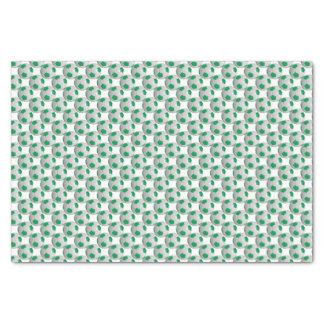 Green and White Soccer Ball Tissue Paper