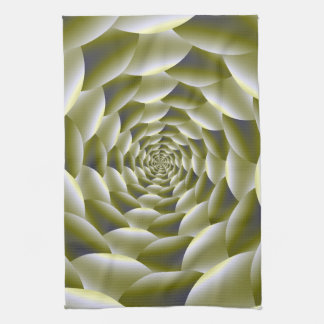 Green and White Spiral Kitchen Towel