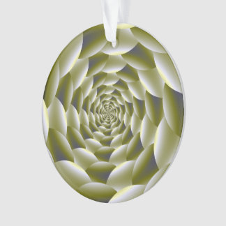 Green and White Spiral Ornaments