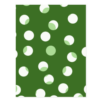 Green and white spotty pattern. postcard
