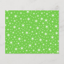 Green and White Star Pattern.