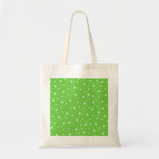 Green and White Star Pattern. Bag