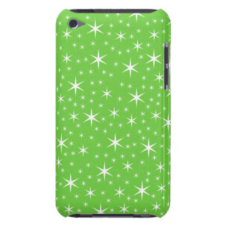 Green and White Star Pattern. Case-Mate iPod Touch Case