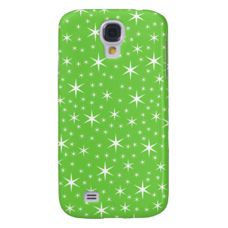 Green and White Star Pattern. Samsung Galaxy S4 Covers