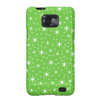 Green and White Star Pattern. Samsung Galaxy S2 Cover